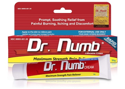 Tube of Dr. Numb anesthetic cream