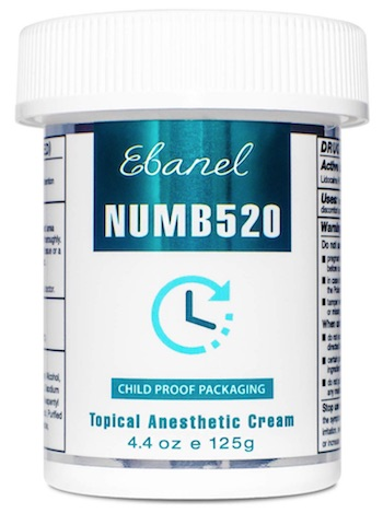 Jar of Ebanel Num520 cream
