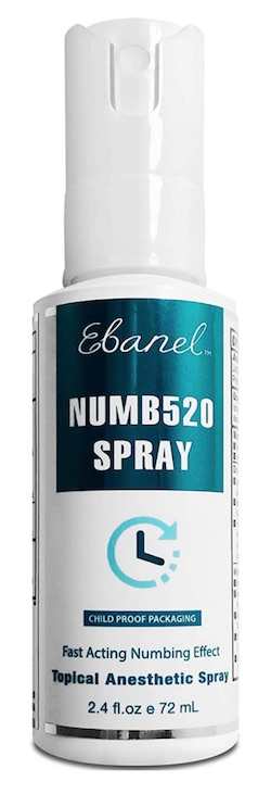 Bottle of Ebanel Numb520 spray