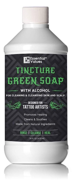 Bottle of Essential Values Tincture Green Soap