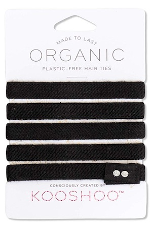 Pack of 5 black Kooshoo hair ties