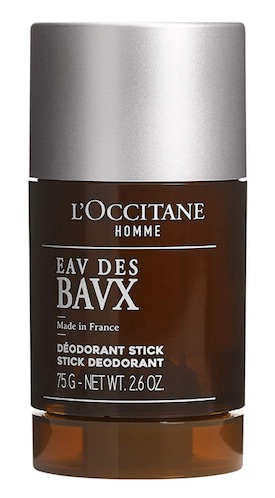 Stick of L'Occitane Eav des Bavx deodorant for men