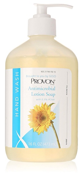 Bottle of Provon Antimicrobial Lotion Soap