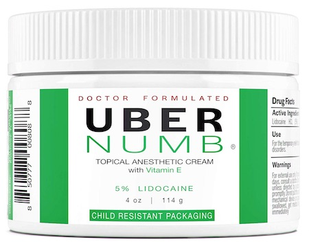 Jar of Uber Numb cream