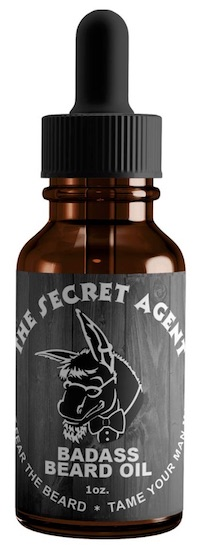 Bottle of Badass Beard Oil - Secret Agent Unscented