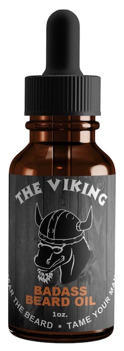 Bottle of Badass Beard Oil - The Viking scent