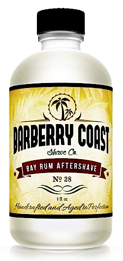 Bottle of Barberry Coast Bay Rum Aftershave Splash