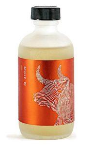 Bottle of Barrister and Mann Seville scented aftershave