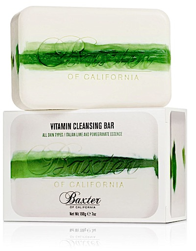 Bar of Baxter of California soap - Italian Lime and Pomegranate scent