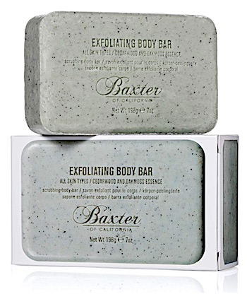 Bar of Baxter of California Exfoliating Body Bar - Cedarwood and Oak Moss scent