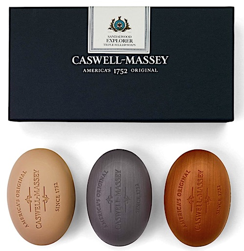 Caswell-Massey bar soap set - Sandalwood Explorer scent