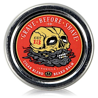 Tin of Grave Before Shave beard balm - Cigar Blend scent