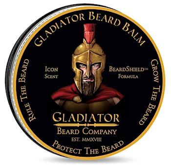 Tin of Gladiator Beard Balm - Icon scent