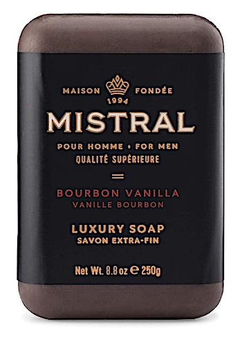 Bar of Mistral soap - Bourbon Vanilla scent