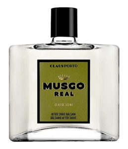Bottle of Musgo Real aftershave balm