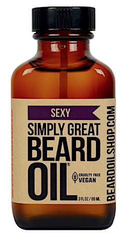 A bottle of Simply Great Beard Oil