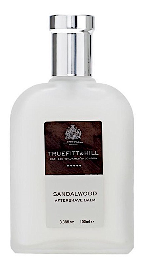 Bottle of Truefitt & Hill aftershave balm - Sandalwood scent