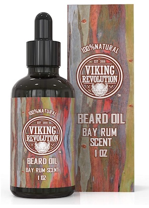 Bottle of Viking Revolution Beard Oil - Bay Rum scent