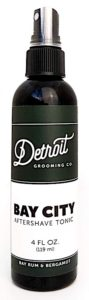 Bottle of Detroit Grooming Co. Bay City Aftershave