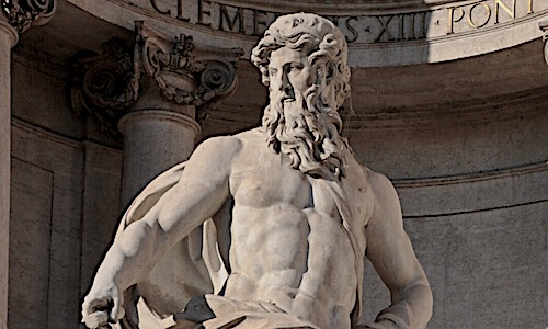 Statue of the Greek God Neptune