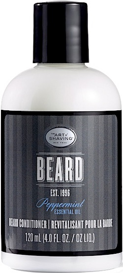 A bottle of The Art of Shaving beard conditioner