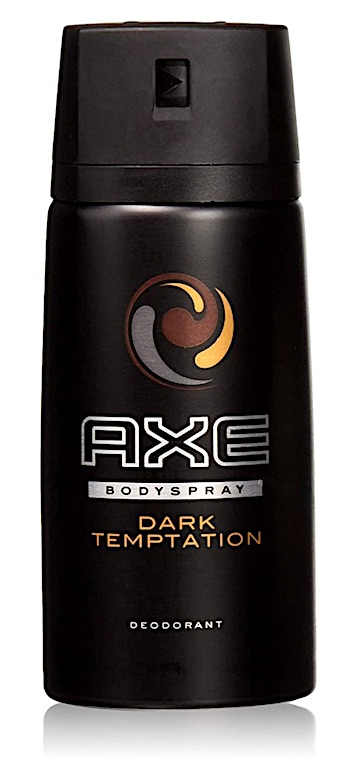 Bottle of Axe Dark Temptation body spray for men