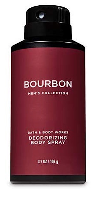 Bottle of Bath & Body Works Bourbon body spray
