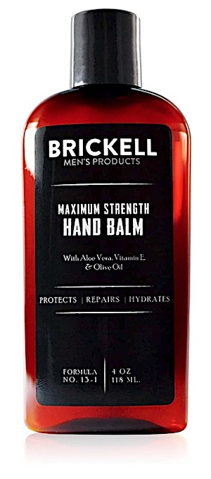 Bottle of Brickell Maximum Strength Hand Balm