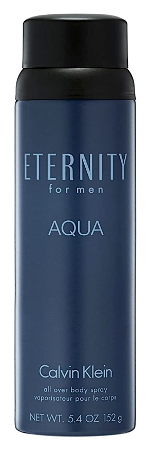 Bottle of Calvin Klein Eternity Aqua body spray for men