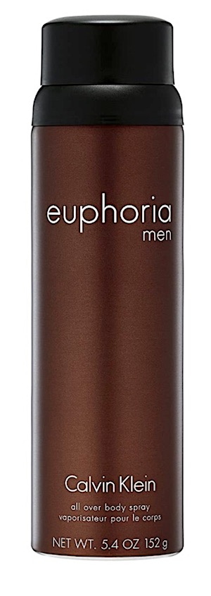 Bottle of Calvin Klein Euphoria body spray for men