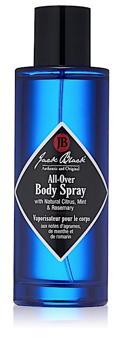 Bottle of Jack Black body spray for men - best smelling body spray for men
