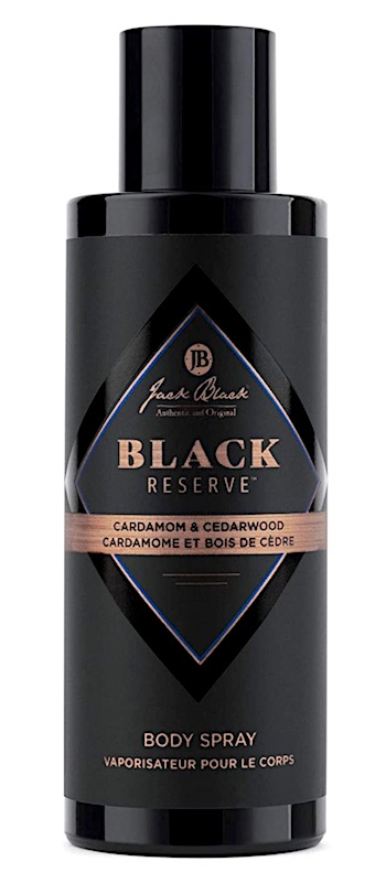 Bottle of Jack Black Reserve body spray for men
