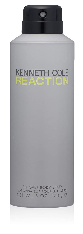 Bottle of Kenneth Cole Reaction body spray for men