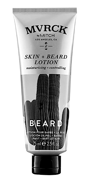 A bottle of Mitch leave-in beard conditioner