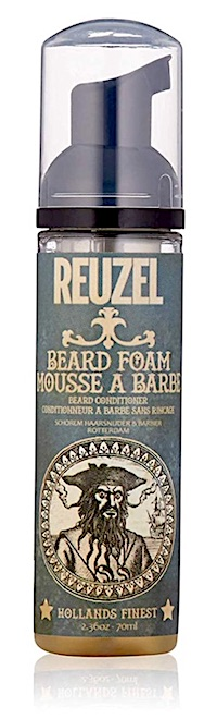 A bottle of Reuzel Foam leave-in beard conditioner
