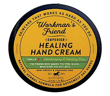 Jar of Workman's Friend Healing Hand Cream