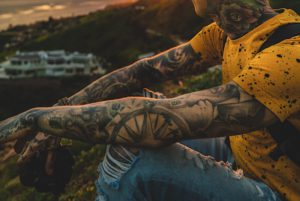 Man with a lot of tattoos