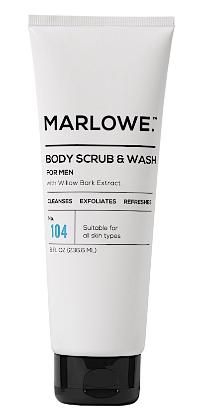 Bottle of Marlowe No. 104 Body Scrub & Wash