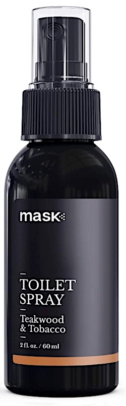 Bottle of Mask poop spray for the toilet.
