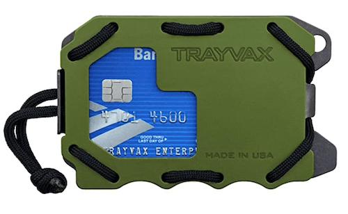 Green Trayvax Original 2.0 metal wallet