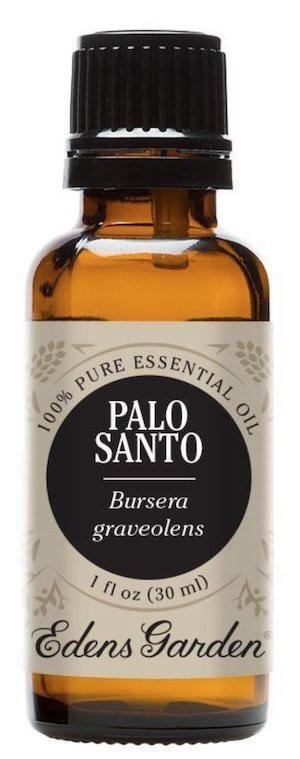 Bottle of Palo Santo essential oil.