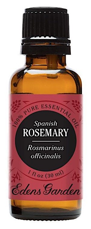 A bottle of Rosemary essential oil for beard growth and health.