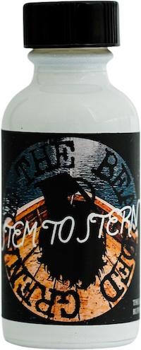 Bottle of Stem to Stern scented beard oil from The Bearded Grenade.