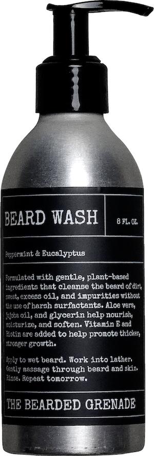 Bottle of The Bearded Grenade Beard Wash