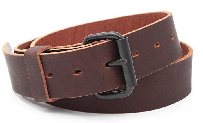 Main Street Forge Classic Everyday Belt in brown leather finish.