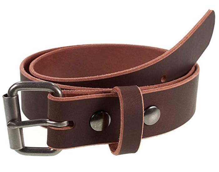 Nohma buffalo leather belt in brown finish